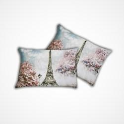 Set 2 federe per guanciale stampa digitale Pink Paris