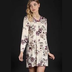 Camicia Donna Manuela Confezioni floreale art 5393 Cotone micromodal