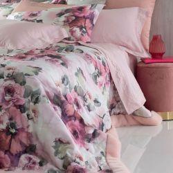 Dimensioni: 270x270 cm Composizione: 100% Blumarine Ellen Copriletto Matrimoniale raso di cotone stampato