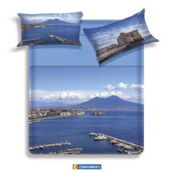Lenzuola copriletto Biancaluna Gulf - Golfo di Napoli