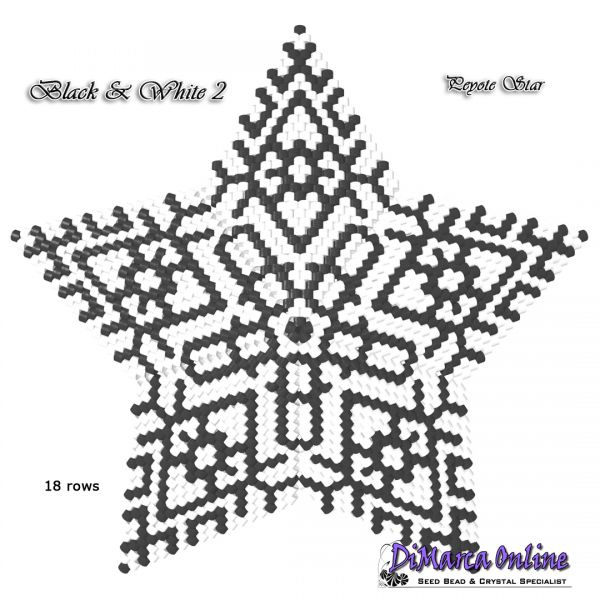 Tutorial Black & White All Stars 3D Peyote Star + Basic