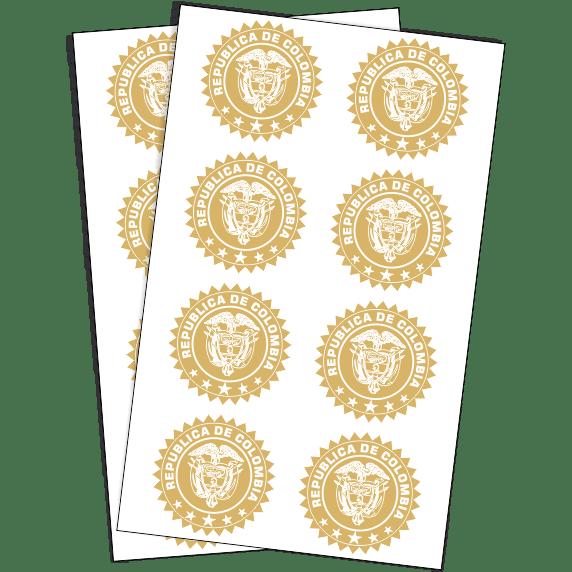 escudos-colombia-dorados