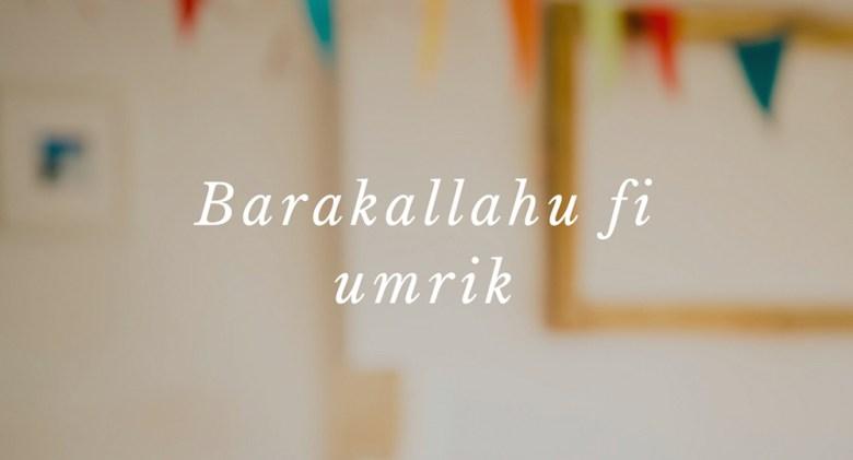 Ucapan Selamat Ulang Tahun Bahasa Arab