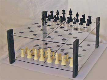 Best board set-up for 1 game of 3D Chess.