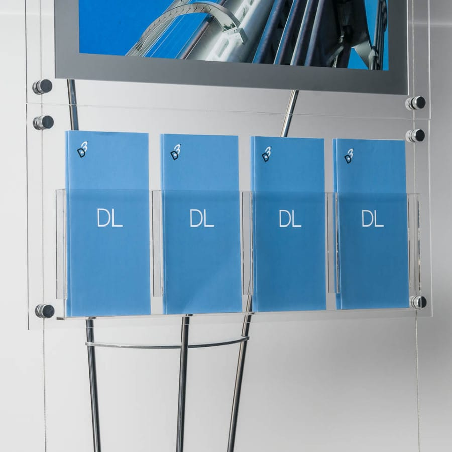 Leaflet Display Stands Stylish Acrylic A4 A5 Amp Dl Displays