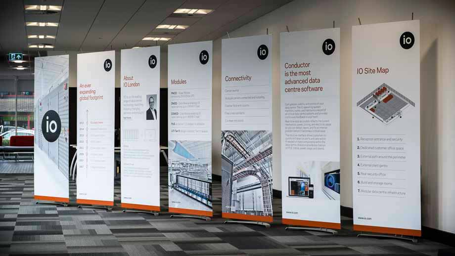 Pop Up Banner Stands in office reception