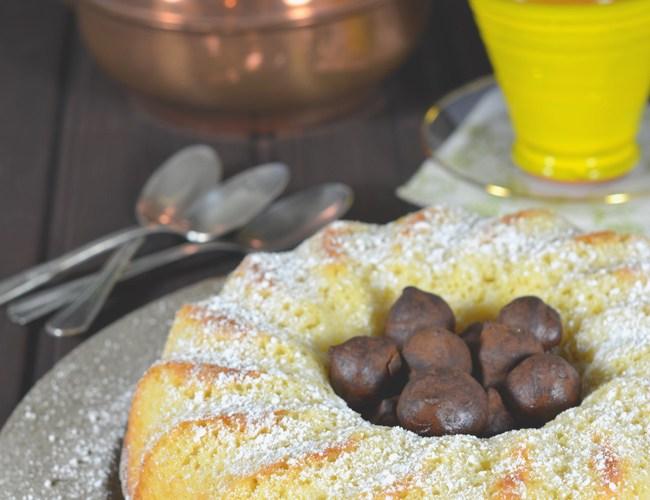 Bundt Cake de limon y trufas de chocolate, receta dedicada a Karen Barton #baroneti