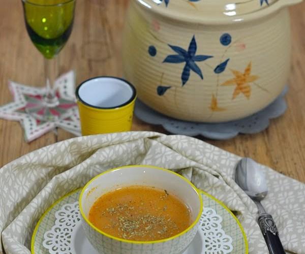 Sopa de marisco y rape alangostado de Sole