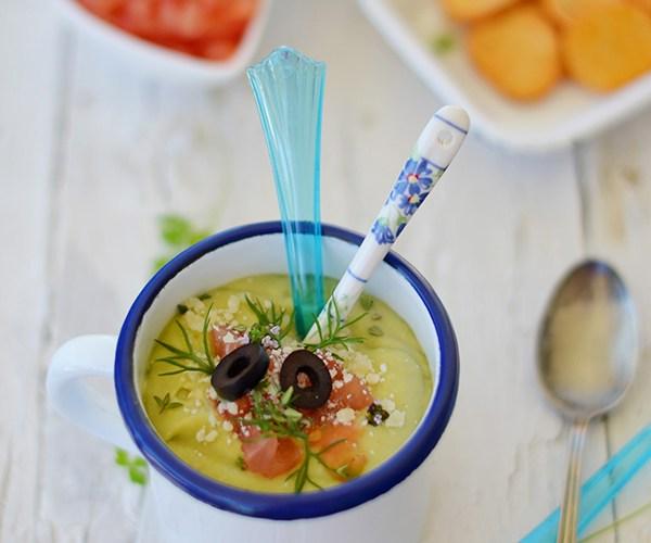 Gazpacho de aguacate y tomate al vinagre de Jerez