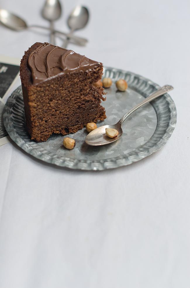 Tarta de Nutella muestra de trozo
