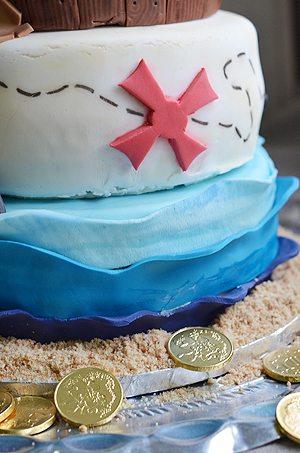 Tarta de cumpleaños PIRATA