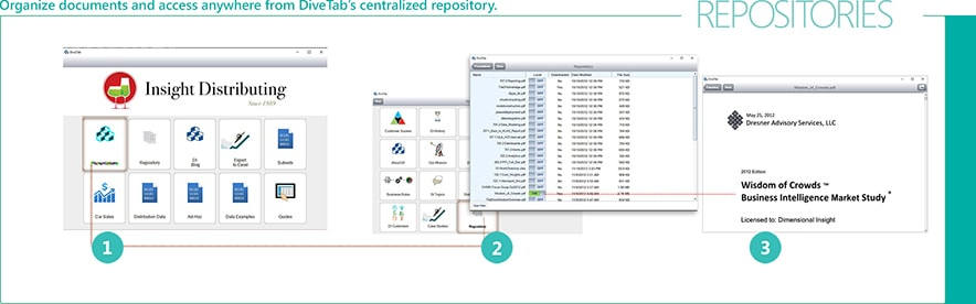 DiveTab has a centralized file repository