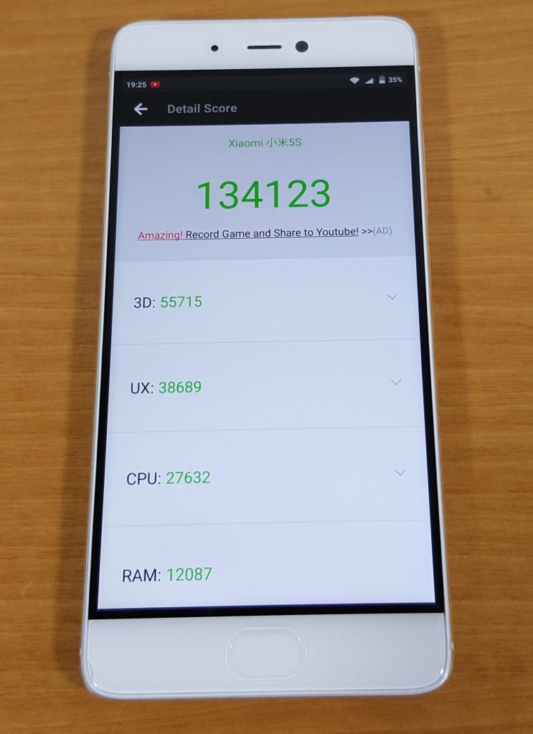 Xiaomi Mi 5S Benchmark Antutu