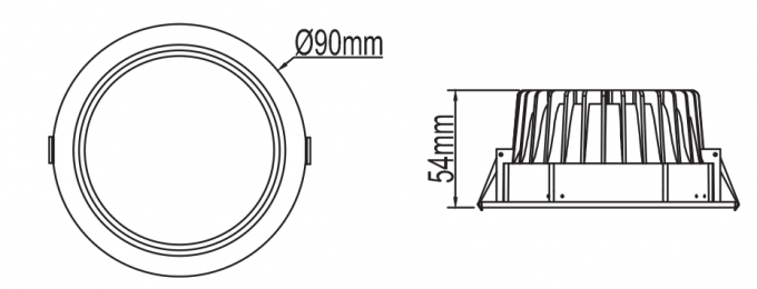 Indoor Angled Recessed Led Downlight Led Residential