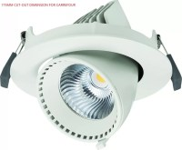 Adjustable 40W Angled Led Downlights Gimbal Led Recessed ...