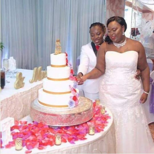 TWO GHANAIAN LESBIANS WED EACH OTHER IN HOLLAND/PHOTOS