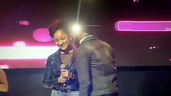Adesua Joins Banky W To Perform On Stage In Warri (Photos)