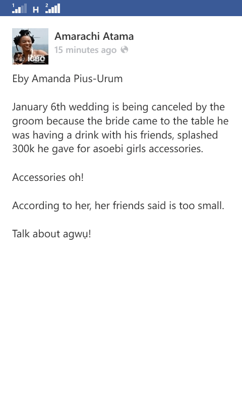 Wedding Slated For 6th January, 2018 Cancelled For The Most Bizarre Of Reasons