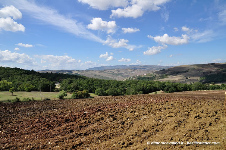 Paesaggio  Agriturismo La Dimora dei Cavalieri  Vaglio Basilicata Potenza Italy