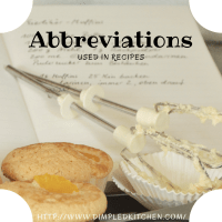 Abbreviations Used in Recipes