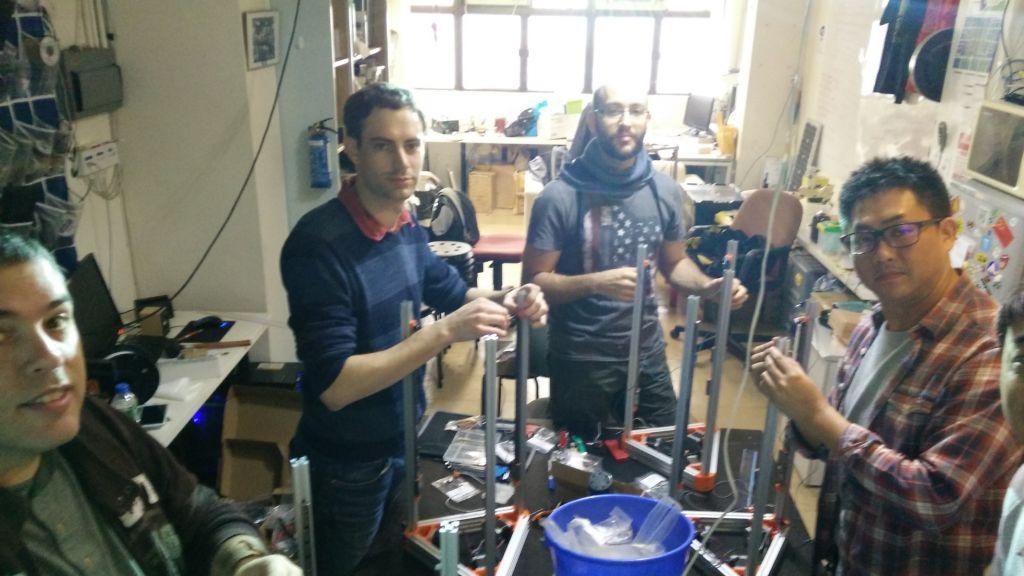 "Excellent start of second ""Build your own 3D Printer"" Workshop @DSL"