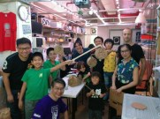 Lasers and Lanterns for mid-autumn festival at Dim Sum Labs