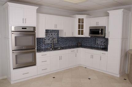 Dina Kitchen Cabinets  Alpine White Shaker
