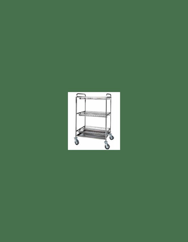 Carrello scolapiatti in acciaio inox capacit tre piani