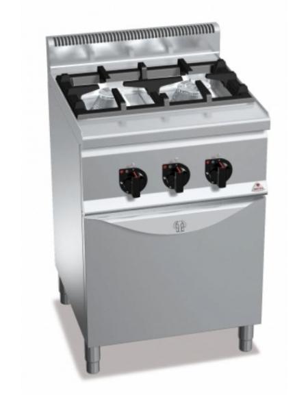 Cucina a gas 2 fuochi da 95 Kw con forno a gas da 35 Kw