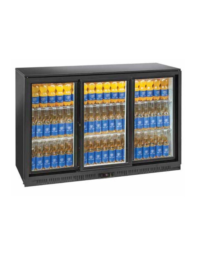 Frigorifero sottobanco orizzontale per bibite 3 porte da cm 135  Espositori bevande bassi orizzontali  Espositori bevande  V