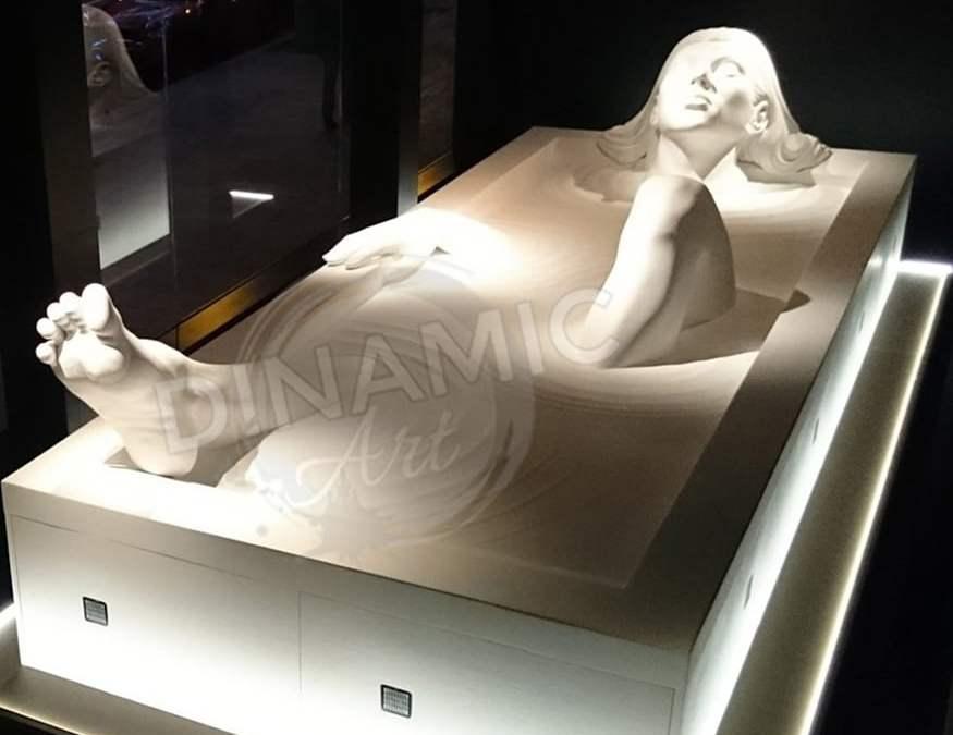 Escultura Porexpan para Roca Madrid Gallery