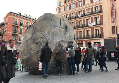escultura callejera