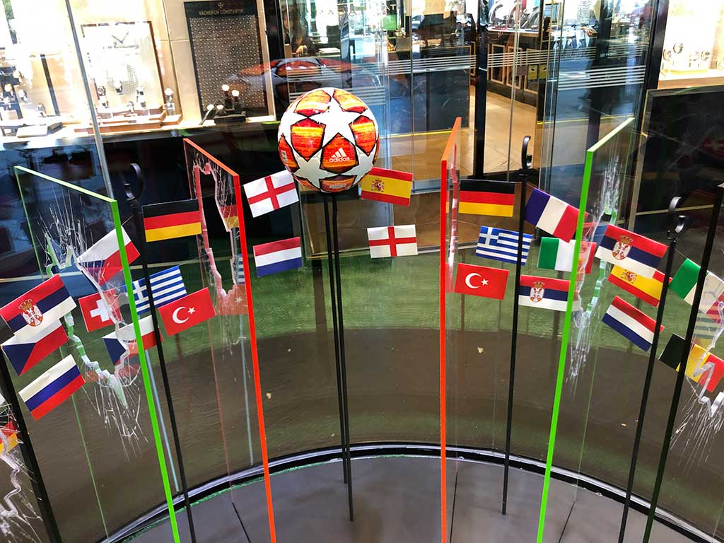 Detalle de las banderas Hublot