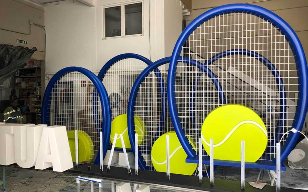 raquetas nuevas esculturas del Mutua Open