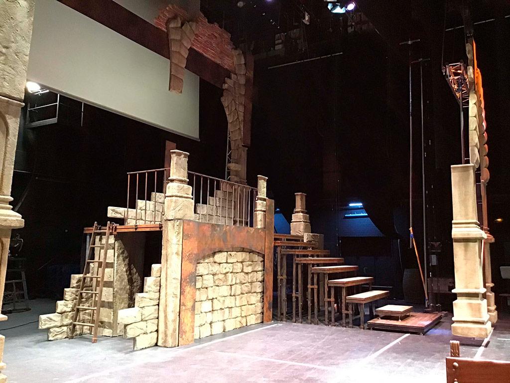 Vista lateral del escenario