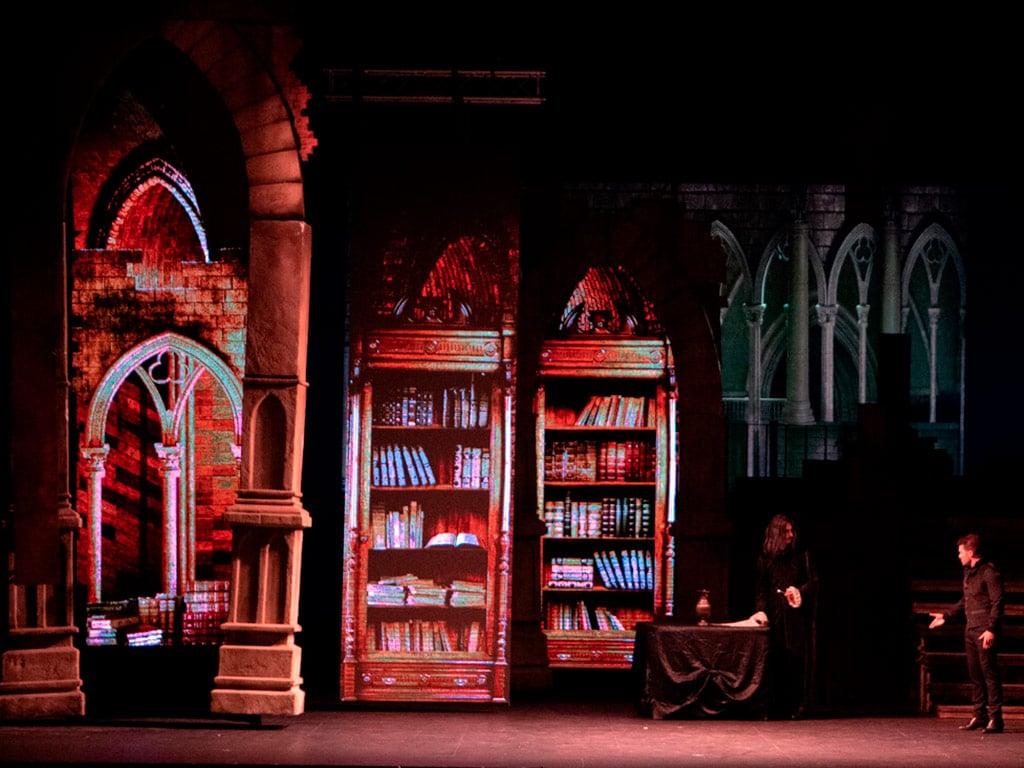 escenografía de Vlad el musical biblioteca