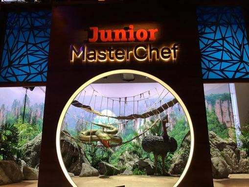 Construcción de decorados para Master Chef Junior 2020