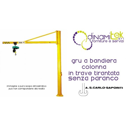 small resolution of jib crane column in the beam tirantata high 3m s carlo saporiti dinamitek 1