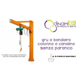 jib crane column in the conduit 3 m high s carlo saporiti dinamitek 1 [ 1000 x 1000 Pixel ]