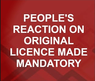 original driving license is mandatory from today