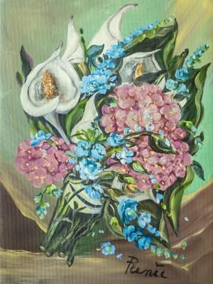 Bouquet con calle 2015, oil on canvas, 30x40 cm