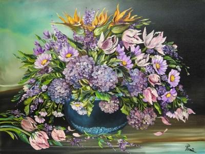 Omaggio floreale 2007, oil on canvas, 60x80 cm
