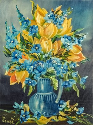 Tulipani gialli 2011, oil on canvas, 30x40 cm