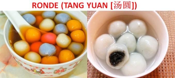 Ronde (Tangyuan) - Makanan Tradisional Tionghoa
