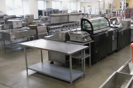 commercial kitchen hood installation spray paint cabinets refurbished restaurant equipment | dine company