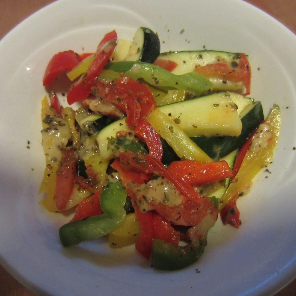 Zucchini & Pepper Salad