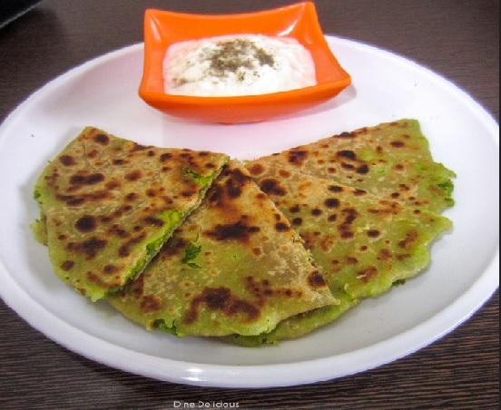 Peas Paratha