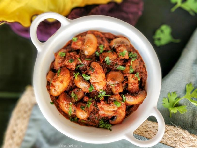 Restaurant Style Mushroom Masala Recipe