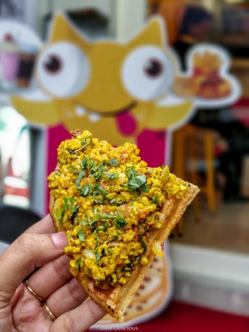 Paneer Bhurji Waffle