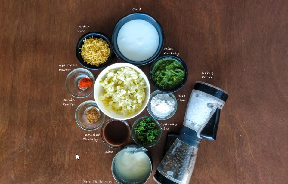 Aloo Tikki Chaat Ingredients